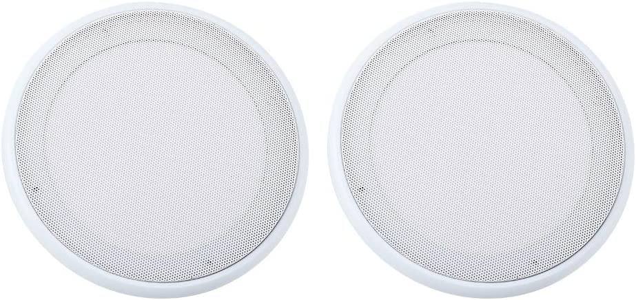 Bindpo Speaker Grille, 2PCS in-Ceiling 8'' Speaker Grille,Home Speaker Cover, Dynamic Built-in Audio, for Humid Indoor/Enclosed Areas,Bathrooms,Kitchens,Patios (8inch)