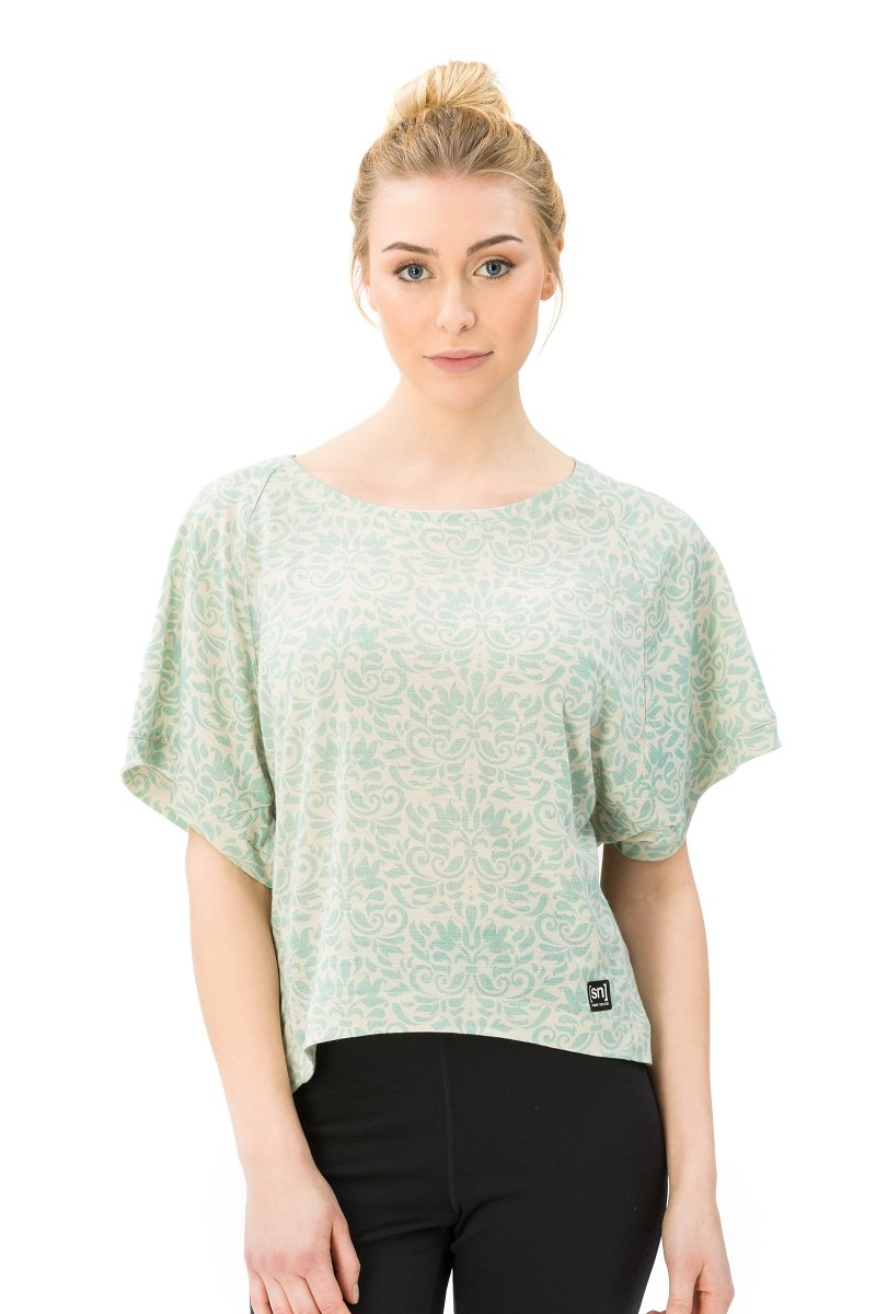 Super.natural Damen W Motion Peyto Printed Merino T-Shirt