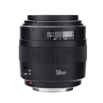 Mugast Lente de cámara de Gran Apertura Yongnuo YN-50mm F1.4 ...