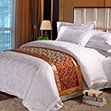 Wine bed five star hotel bedding article bed flag bed runner bed cover bed foot mat decorative strip-E 50x180cm(20x71inch)