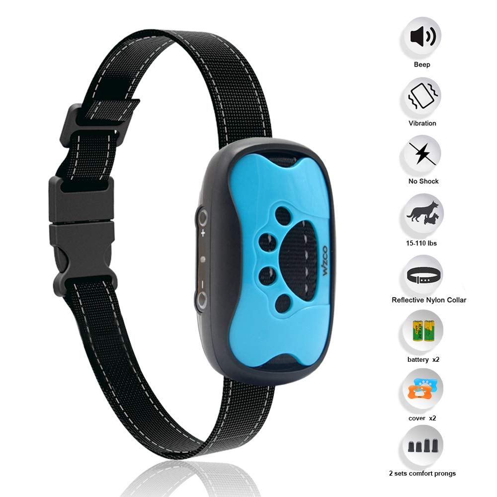 WIZCO- Intelligent Anti Bark Advance Dog Collar, Reliably Stops Dogs Barking Safely and Humanely.