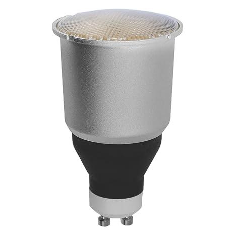 Bombilla bajo consumo GU-10 9W Luz cálida 2700K