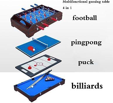 QING 4 En FT4 1 Juego de Mesa, Seguro y Protegido Futbolín/Billar/Mesa de Ping Pong/Hockey sobre Hielo Multifuncional Mesa de Billar Adecuado for la Familia de Juegos Entre Padres e Hijos: Amazon.es: