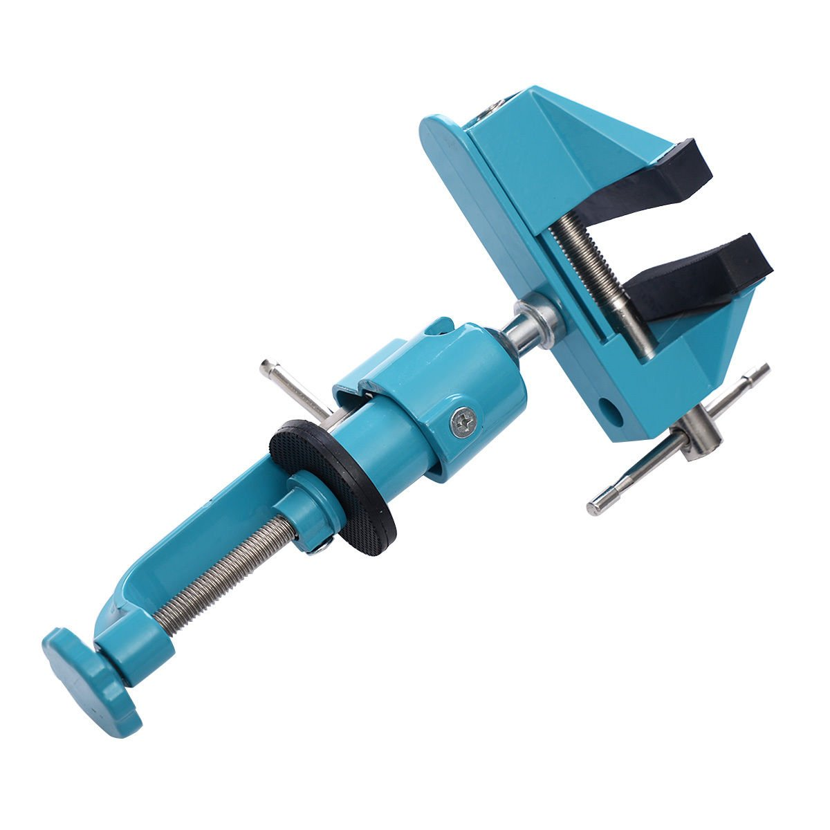 Goplus Bench Vise Swivel 3'' Tabletop Clamp Vice Tilts Rotate 360° Universal Work by Goplus (Image #3)