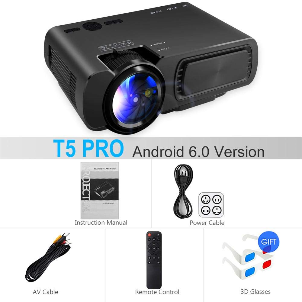 SMEI Potente Proyector De Android T5/t5 Pro Mini Proyector ...