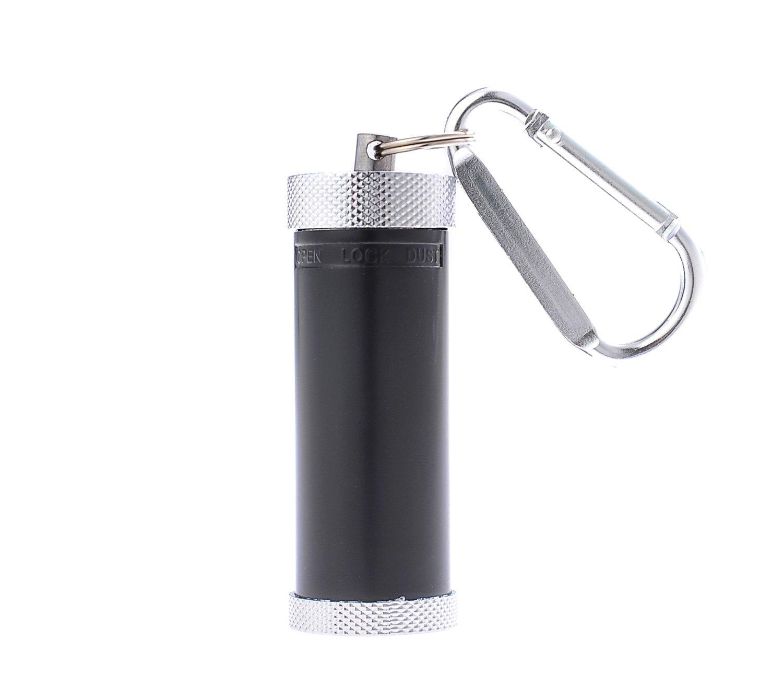 Mini cendrier/Cendrier de Poche/Cendrier Portable, Fait en Alliage de Zinc, en Forme d'un Cylindre, avec Un Mousqueton, de Couleur Noir, 022-01 en Forme d' un Cylindre YH_022-01