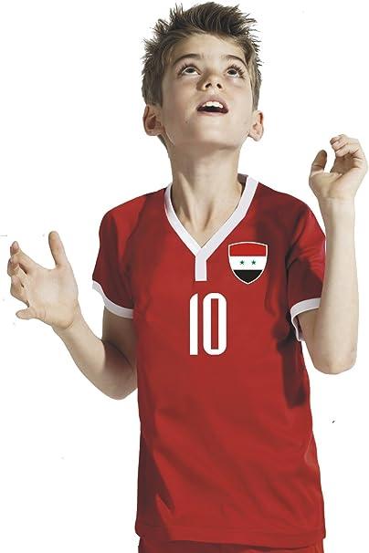 T-shirt Enfant Pologne avec prénom au dos personnalisé Mondial Football 2018