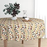 Roostery Round Tablecloth - Islamic Turkish Persian Moroccan Egyptian Hippy Renaissance by Muhlenkott - Cotton Sateen Tablecloth 70in