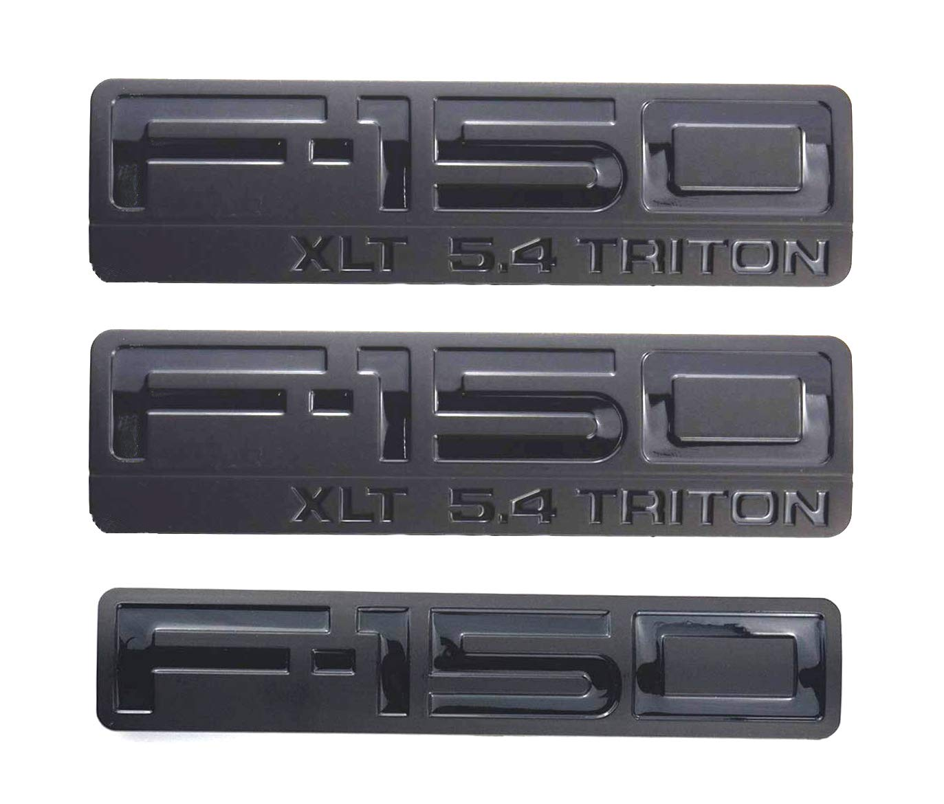 2x OEM 2004-2008 F-150 XLT 5.4 Triton Fender Emblems Badges PAIR NEW 3D logo Replacement for F150 Black Sanucaraofo