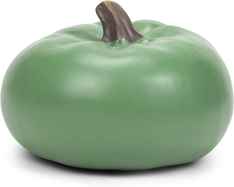 Elanze Designs Sage Green 6 inch Resin Harvest Decorative Pumpkin