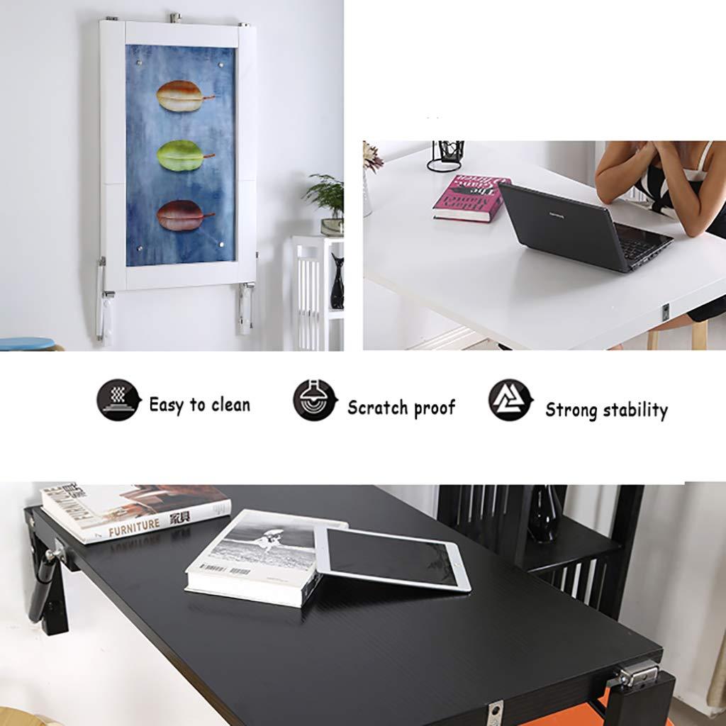 Bordsskiva WILK fällbart väggmonterad skrivbord droppblad, trä integrerad hopfällbar väggmålning middag, utrymmesbesparande för studier, äta eller arbete, 5 färger Valnötfärg