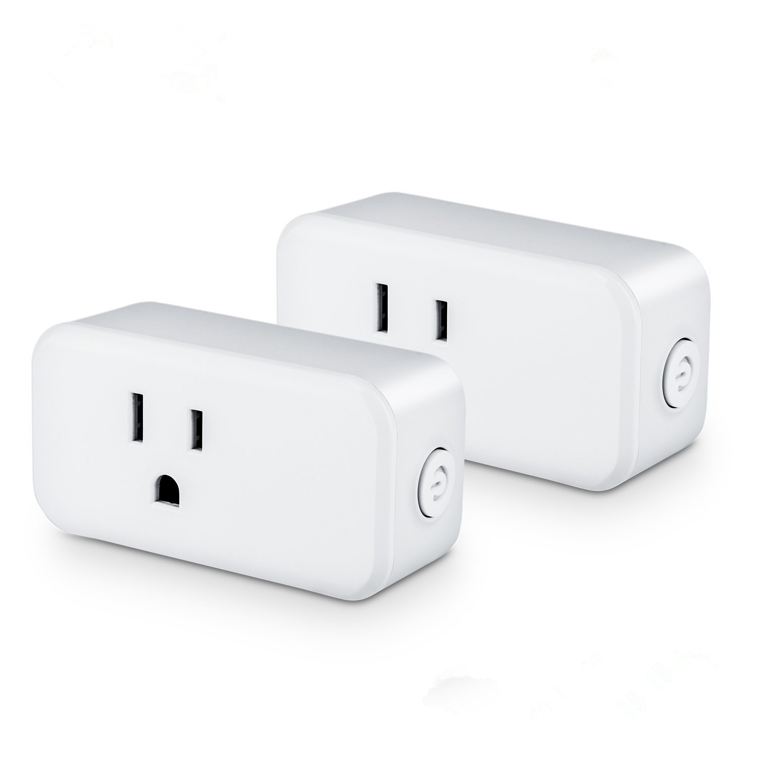 Wifi Smart Plug,Smart Socket,15A Wireless Socket Outlet Remotely Controls your Devices from anywhere,Smart Electrical Outlets Compatible with Amazon Alexa Google Home IFTTT,Timer Outlet[ 2 Pack ]