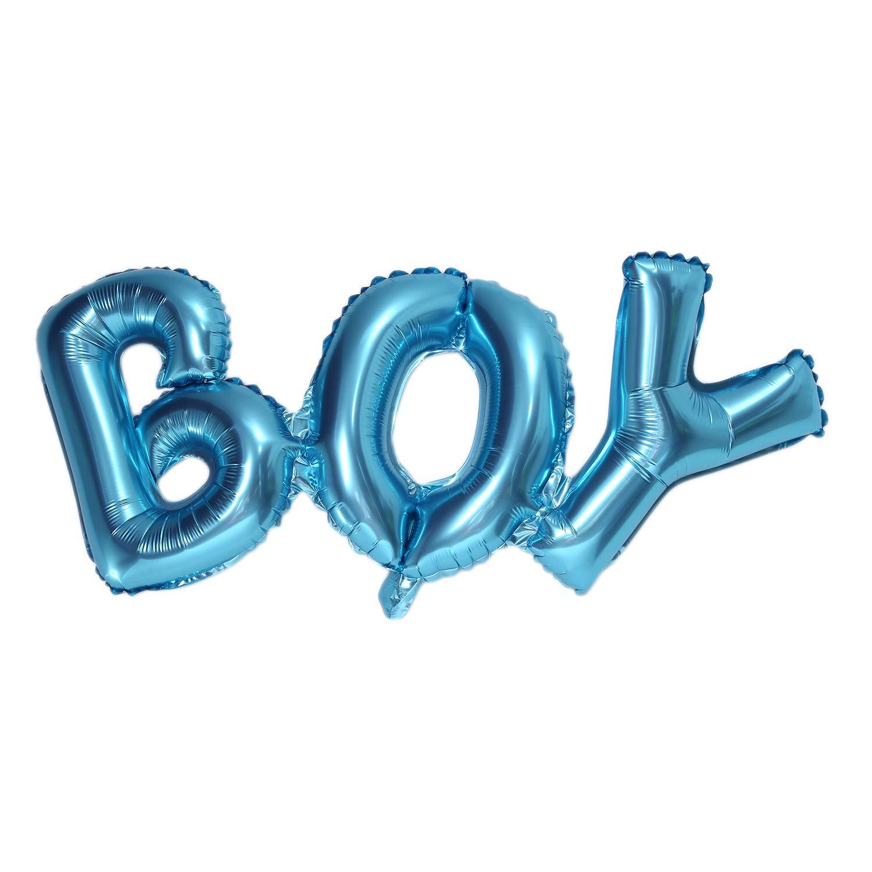 TOOGOO Blue Boy Foil Balloon for Newborn Baby Shower Christening Birthday Party Decoration Supplies