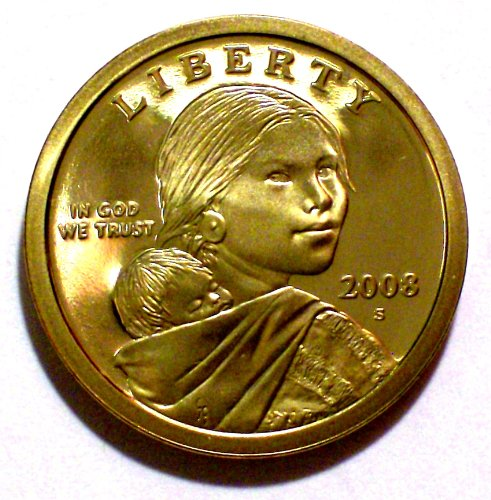 2008 S Sacagawea Gem Proof Dollar PF-1 US Mint UCAM