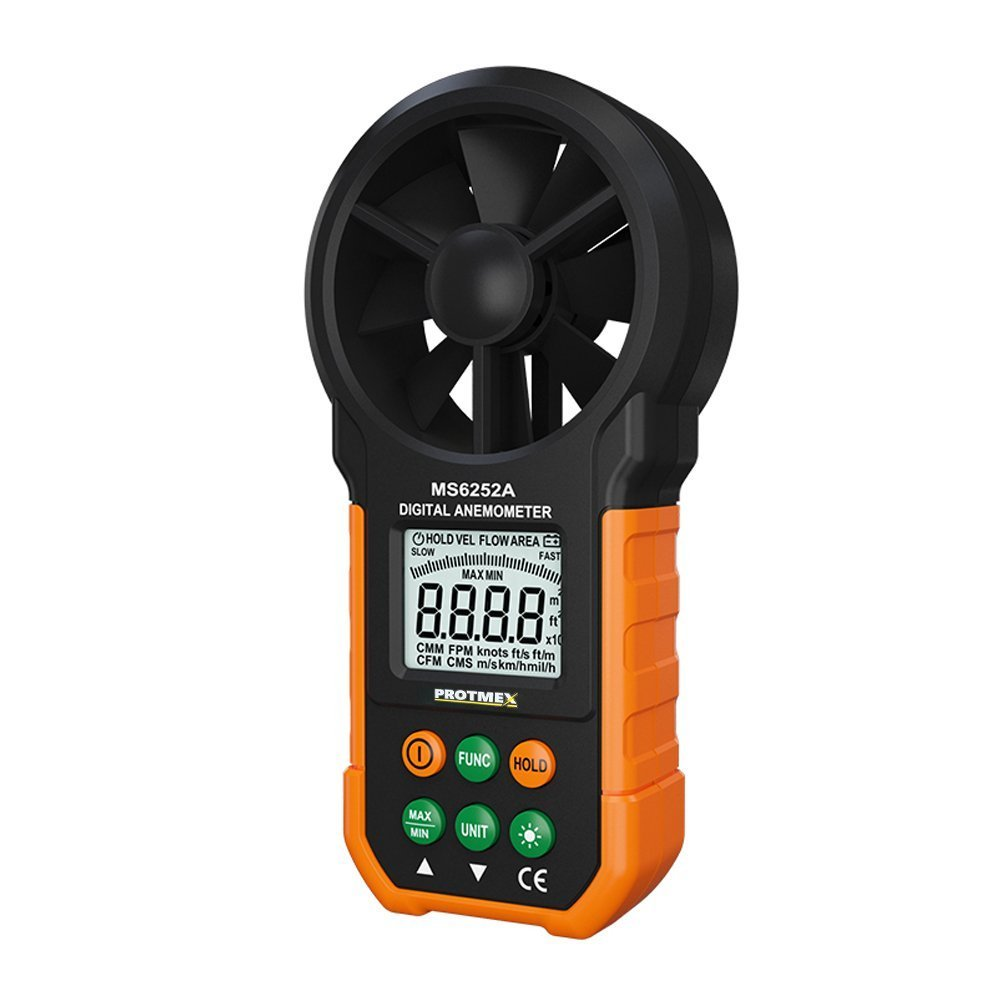 Digital Anemometer, AGOKA Wind Speed Meter, Air Volume Meter Wind Gauge