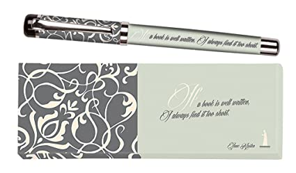 Moses. 81045 libri x Jane Austen, bolígrafo de tinta bolígrafo con mina intercambiable, en una caja de regalo