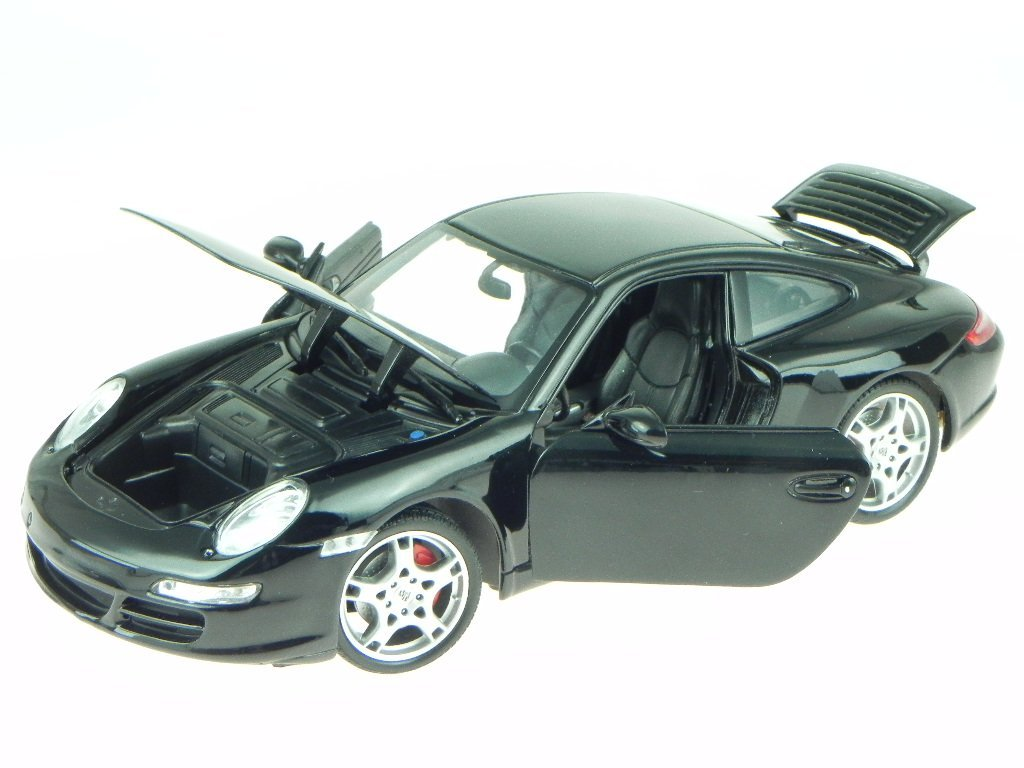 Porsche 911 997 Carrera S Coupe schwarz Modellauto 18004 Welly 1:18