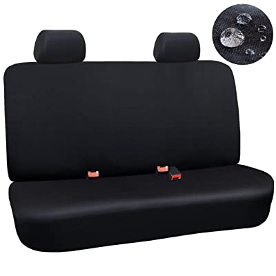 Elantrip Waterproof Rear Bench Seat Cover Water Resistant Universal Fit Seat Protection Quick Install for Cars SUV Truck, Black 3 PC: Automotive [5Bkhe1501700]