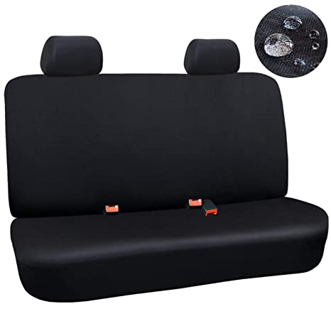 Astounding Elantrip Waterproof Rear Bench Seat Cover Water Resistant Universal Fit Seat Protection Quick Install For Cars Suv Truck Black 3 Pc Ibusinesslaw Wood Chair Design Ideas Ibusinesslaworg