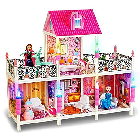 Buy Happy Giftmart Frozen Big Size Mansion Doll House For Princess