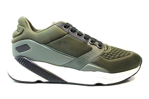 Sneakers PRINCE NEOPRENE S0492 Verde e Nero Uomo Scarpa Sportiva Casual
