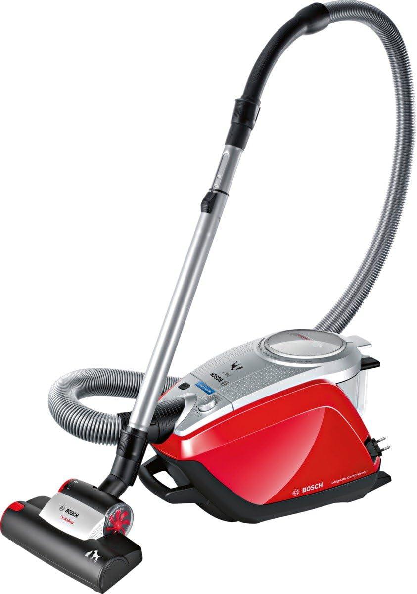 Bosch BGS5ZOODE - Aspiradora sin bolsa, color rojo y plateado ...