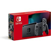 Nintendo Switch ببطارية تدوم طويلا مع جوي كون، باللون الرمادي