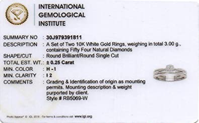 De Couer IGI Certified 10k White Gold 1/4ct TDW Diamond Clustter