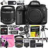 Canon EOS 7D Mark II Digital SLR Camera Deluxe Video Creator Kit with Canon EF-S 18-55mm f/3.5-5.6 IS STM Lens + 32GB SD Memory Card + Camera Works PRO Accessory Bundle