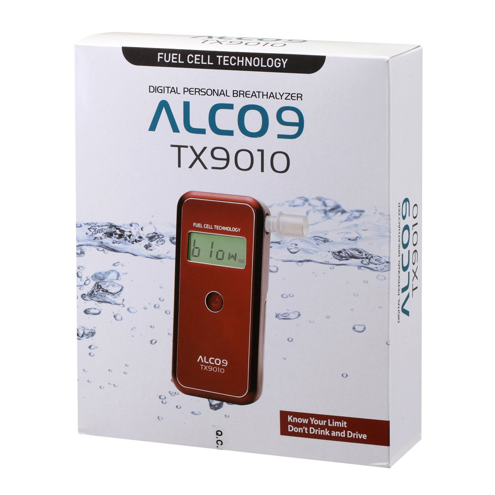 ALCO9 TX9010(aka AL9010) Fuel Cell Breathalyzer Portable Breath Alcohol Tester Detector with LCD Display by Sentech (Image #4)