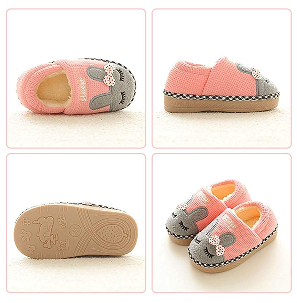 Girls Boys Fur Lined Indoor House Slipper Bunny Warm Winter Home Slippers SITAILE Cute Home Shoes