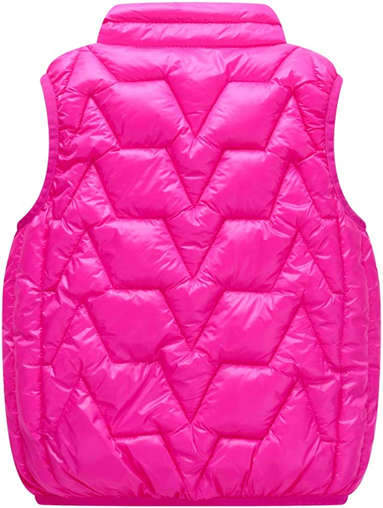 Kids Gilets Down Vest Boys Girls Quilted Coat Lightweight Bodywarmer Sleeveless Puffer Jacket