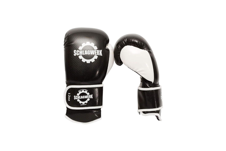 10 Unzen bis 16 Unzen Schwarz SCHLAGWERK Boxhandschuhe BT Wei/ß Carbon Kunstleder