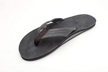 5b1356da6613 Rainbow Sandals Men s Single Layer Premier Leather Black