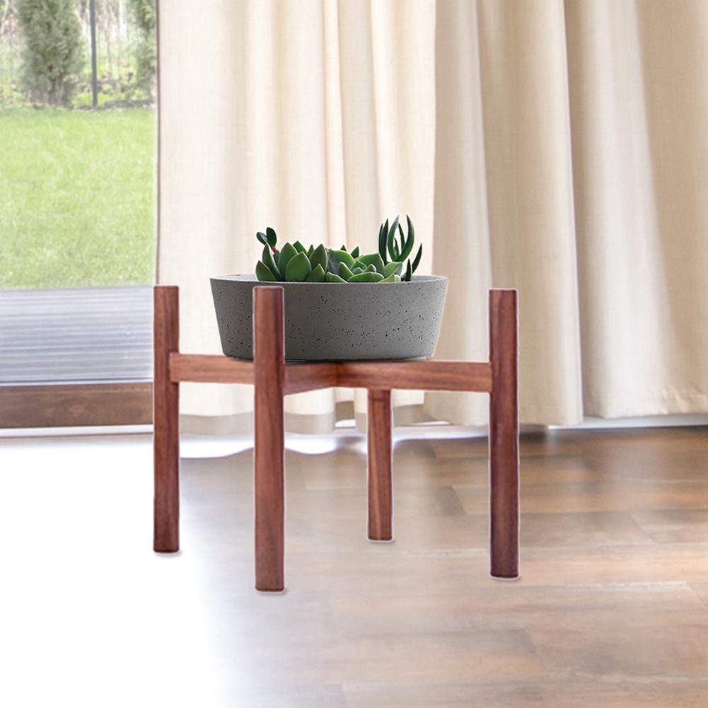 Planter Not Included Plant Stand Mid Century Wood Flower Pot Solid Wood Indoor Flower Pot Holder