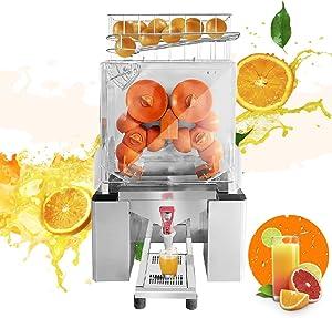 Frifer Commercial Orange Juicer Machine,Heavy Duty Electric Citrus Juice Squeezer Fast Residue Juice Separation,Novel Faucet Design Professional Lemon Squeezer Machine for Perfect Juice Collection,110V