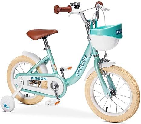 FINLR Bicicleta For Niños Bicicletas For Niños Pedal For Niños Bicicleta Hada Bicicleta De Niña Princesa 14/16 Pulgadas Estudiante De 3-8 Años Ciclismo con Estabilizadores: Amazon.es: Deportes y aire libre