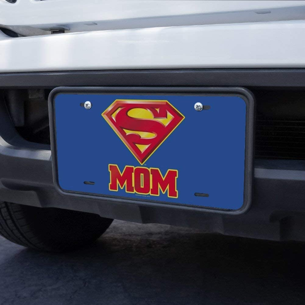 Graphics and More Superman Super Mom Shield Logo Novelty Metal Vanity Tag License Plate