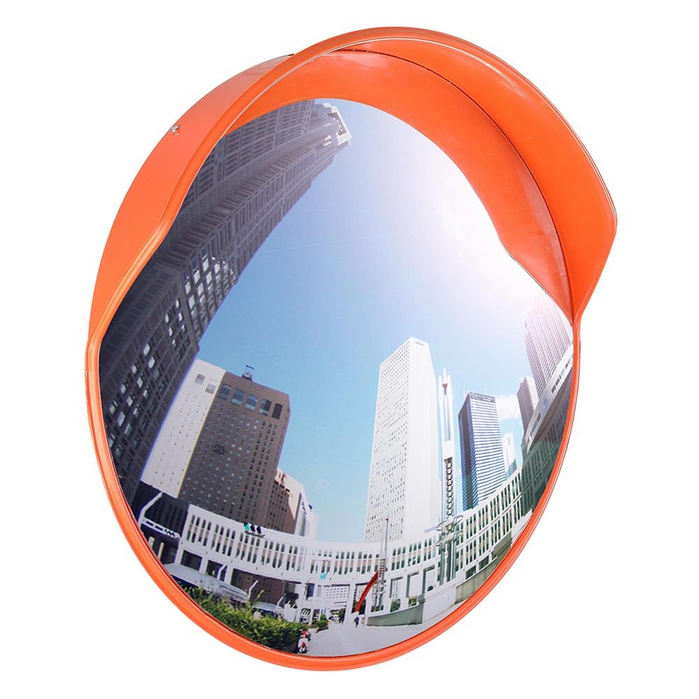 24'' Wide Angle Security Mirror Convex PC Mirror Wide Angle Curved Safety MirrorOutdoor Road Traffic Driveway Safety, Made of durable, ligh,Shatter proof,Easy to install, adjustable direction street co