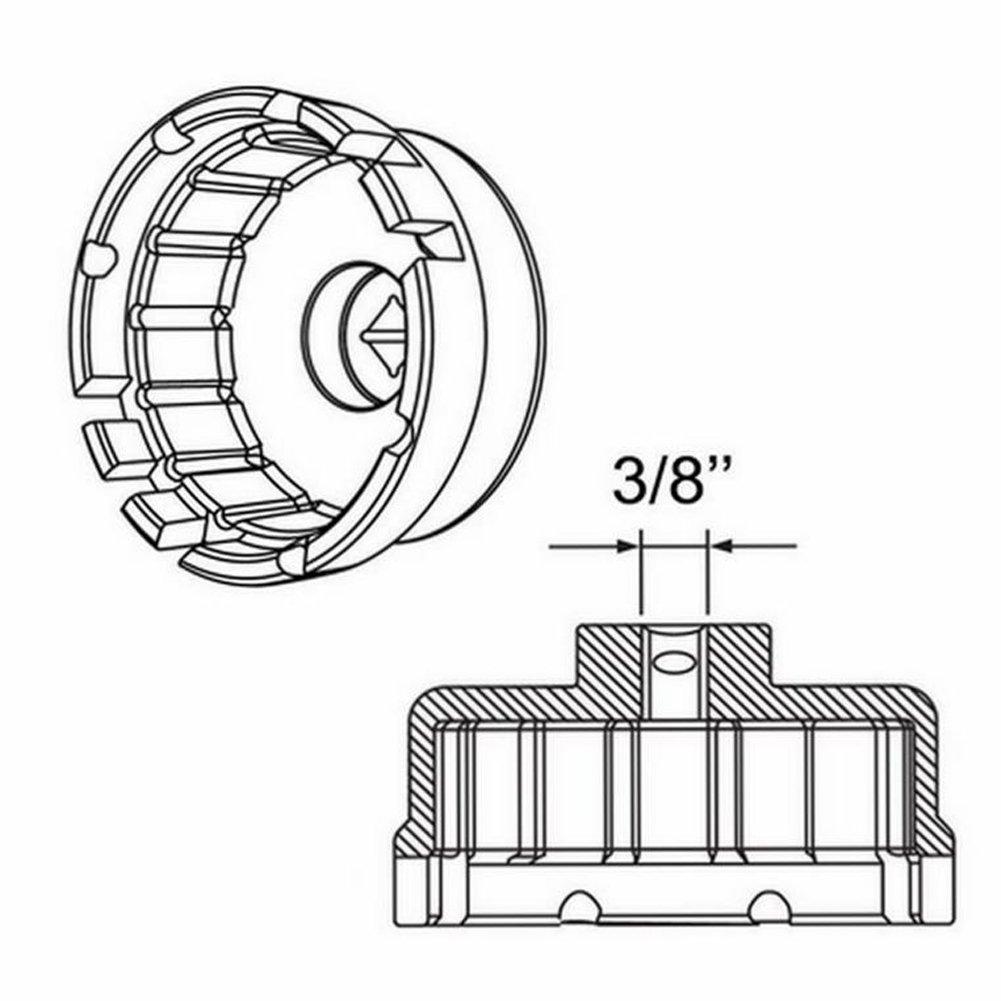 Alwayswe Lexus y Corolla aleaci/ón forjada de Alta Resistencia Llave de Filtro de Aceite de 14 Flautas para Toyota