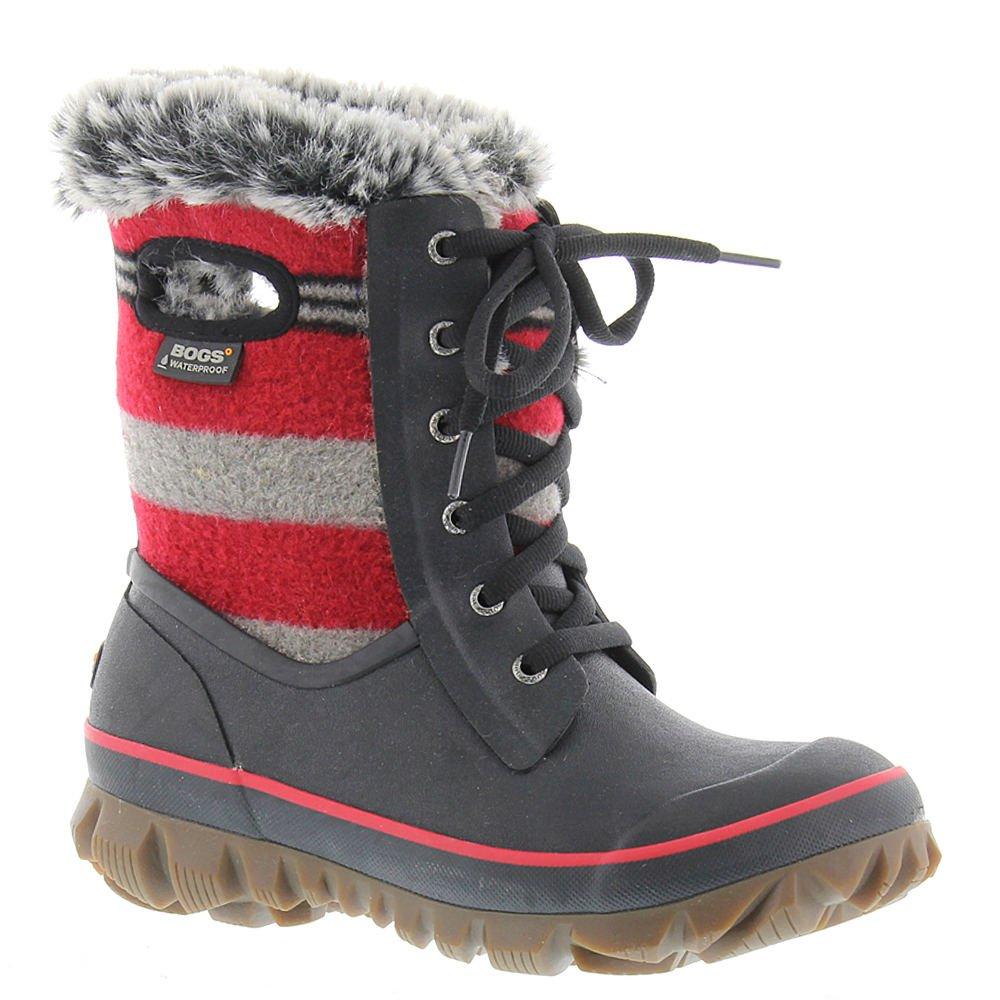 Bogs Women's Arcata Stripe Waterproof Winter Boot B01N4PUXXE 8 B(M) US|Red Multi