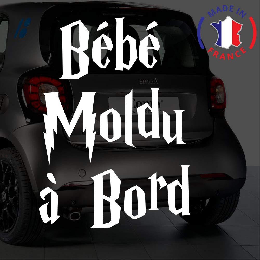 Sticker bébé à bord pour voiture Bébé Moldu à bord 20 cm Blanc - Anakiss