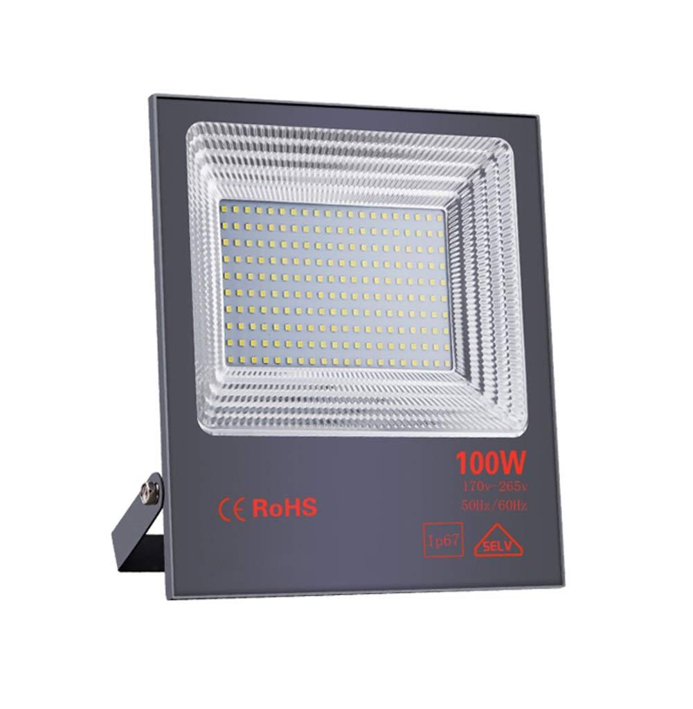 Csndice Home LED Faretto Da Esterno,Impermeabile Spotlight Esterna Cantiere Di Costruzione Tunnel Di Luce Di Sicurezza Ingegneria Ad Alta Potenza IP65 66 (dimensioni   100W)