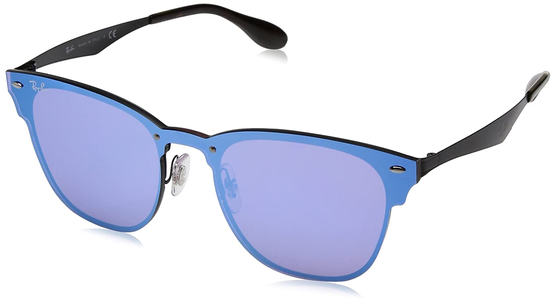 Óculos de Sol Ray Ban Blaze Clubmaster Rb3576n 153 7v 41 Preto Espelhado  Azul  Amazon.com.br  Amazon Moda cdf40da4d0