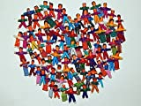 Heart People 100 Tiny Worry Dolls. 50 Boys and 50 Girls