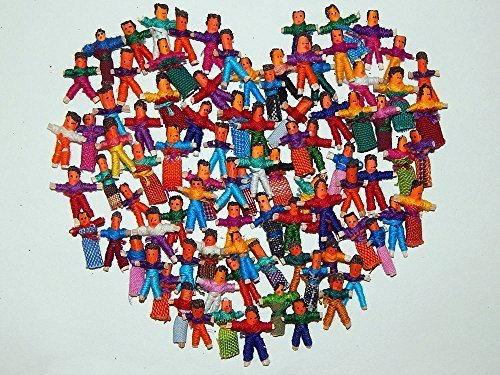 Heart People 100 Tiny Worry Dolls. 50 Boys and 50 -