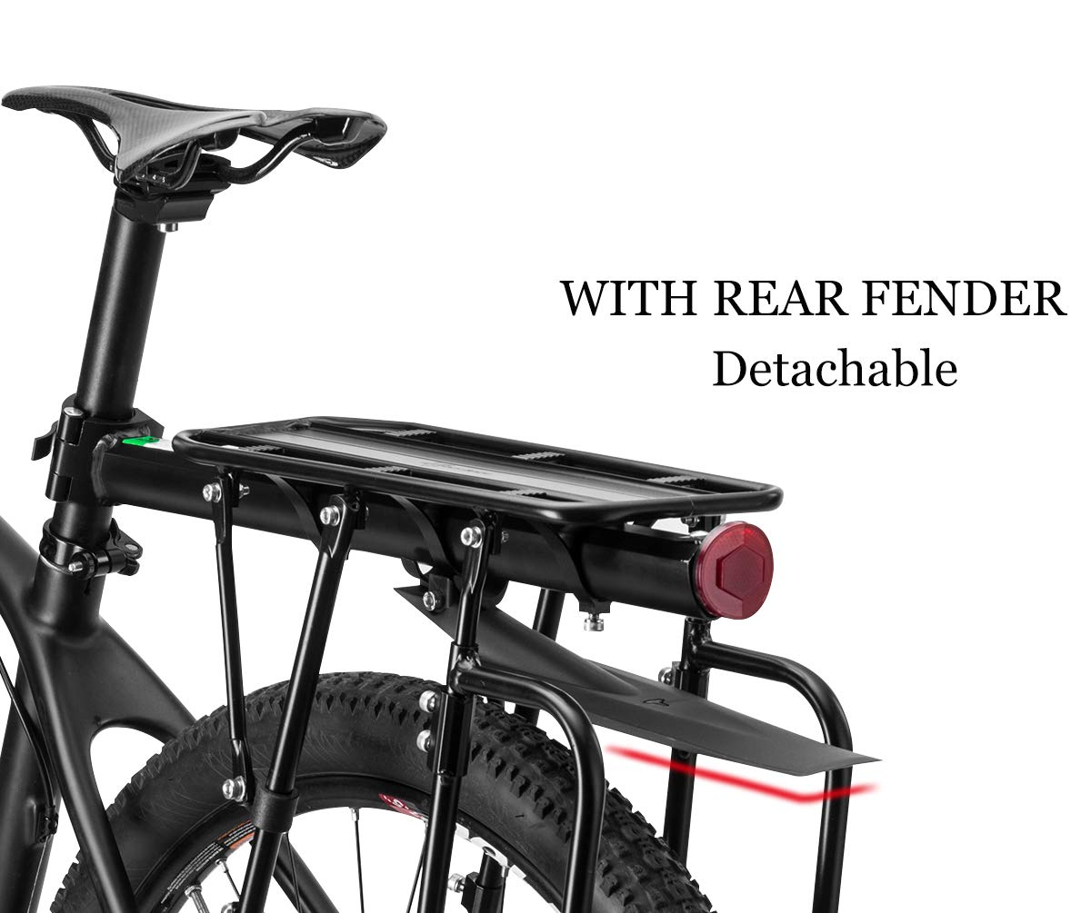 ROCK BROS Bicycle Cargo Rack Mountain Bike Cargo Rack Rear Rack Bicycle Touring Carrier with Fender Quick Qelease Adjustable Luggage Rack Universal