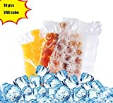 Image of Bettli Disposable ice cube bag, Keep food fresh outdoors, Convenient and healthy , Easy Release, No Spill Ice Cube , Stackable, Compact, Odor Free Ice Cube-10 pieces