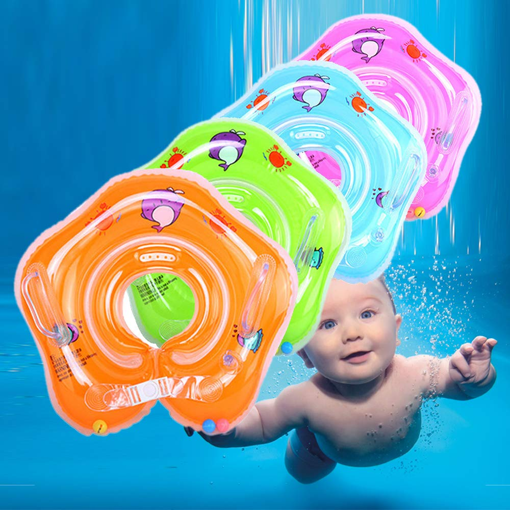 Safety Kids Float Inflatable Swimming Ring Baby Swimming Ring Baby Swim Ring Float with Skin-Friendly PVC Fits for Infant Toddler Training from 0 Months to 18 Months