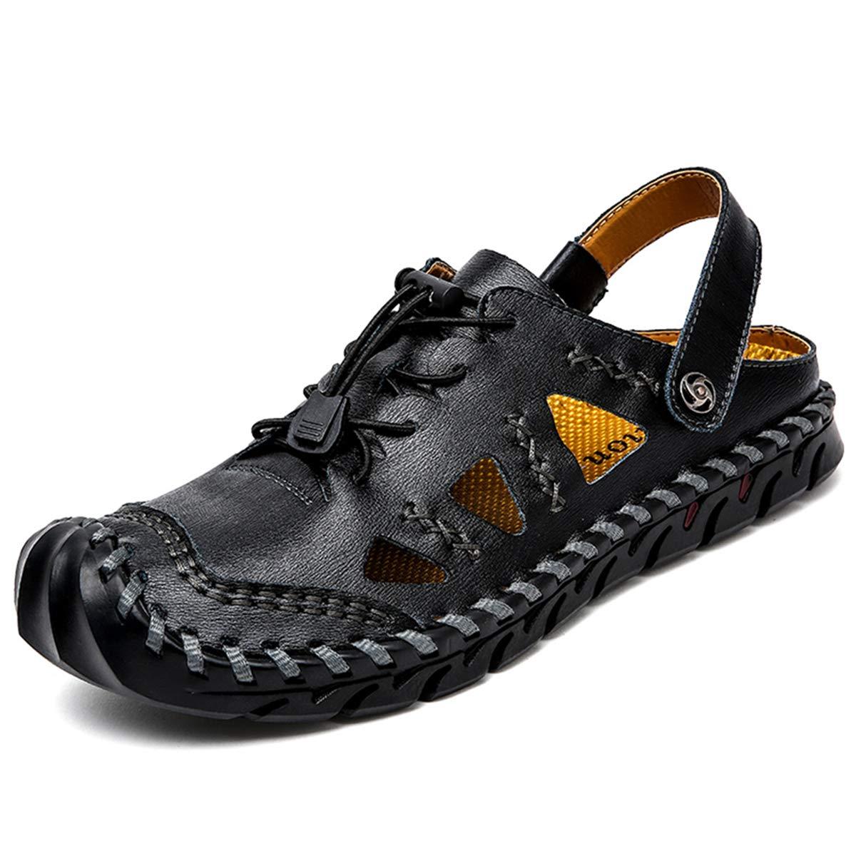 Sandalen Herren Geschlossen Hausschuhe Flip Flops Hiking Smooth Boots Atmungsaktiv Pantoletten Winter A38
